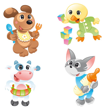 Little pets, cartoon and vector characters Stock Vector - 5539098