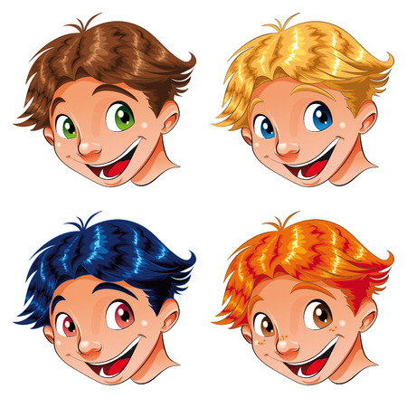 Child Smile, cartoon and vector characters