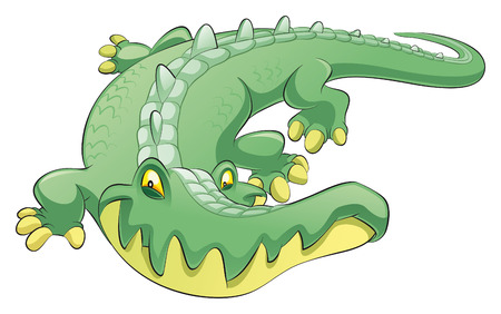 Crocodile, cartoon and vector character Vector