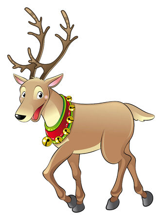 Reindeer for Christmas. Cartoon and vector character