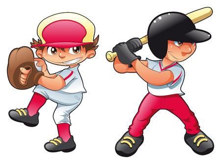 Baby-Baseball. Cartoon and vector characters