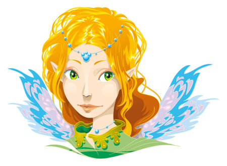 Fairy Girl. Cartoon and vector character Vector
