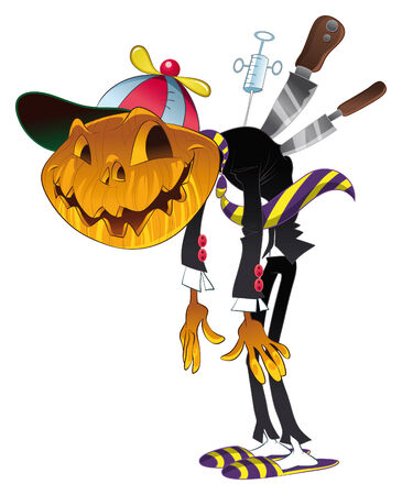 Halloween Character. Cartoon and vector illustration