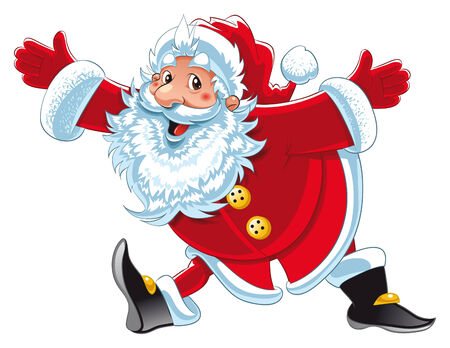 santaclaus: Santa Claus. Cartoon and vector character