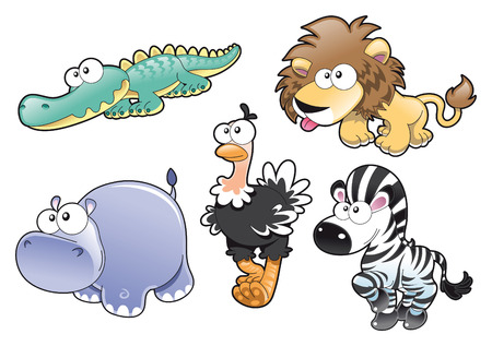 Animal Family. Cartoon and vector characters Vector