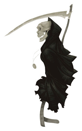 Death. Cartoon and vector illustration. Vector