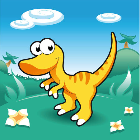 Baby Dinosaurs. Cartoon and vector illustration. Vector
