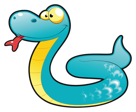 Baby snake. Funny cartoon and animal character Stock Vector - 5799895