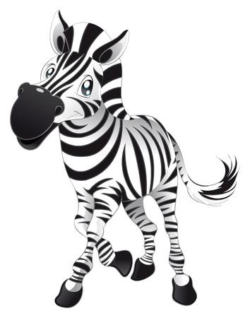 animales safari: Zebra de beb�. Historieta divertida y car�cter animal