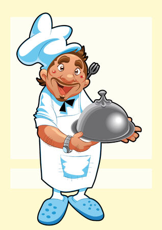 The Cook. Funny cartoon and character Vector