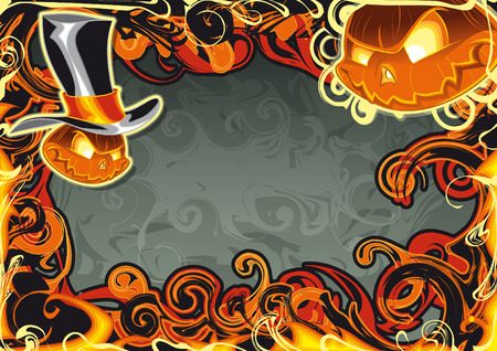 Vector illustration - Halloween Card Stock Vector - 5877635