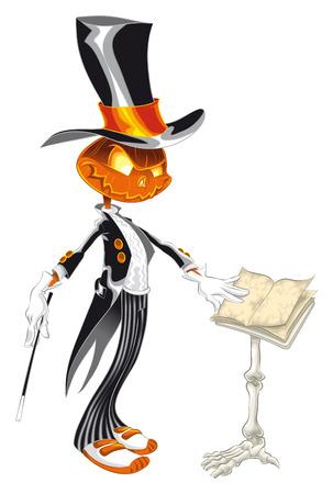 chef d orchestre: Illustration vectorielle - Halloween caract�res-�Le musicien� Illustration