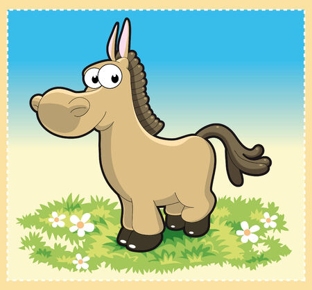 Funny horse - Cartoon and vector illustration Stock Vector - 5877602