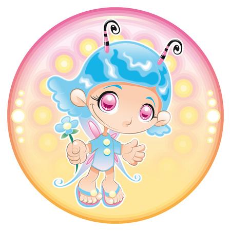 Baby Fairy. Cartoon and illustration Stock Vector - 5899791