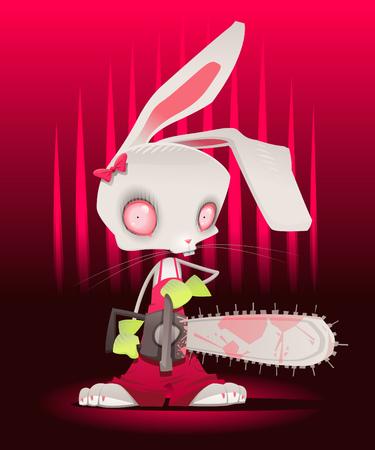 murder scene: Bunny de horror con fondo.