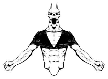 arm muskeln: W�tend Demon  Illustration