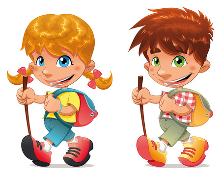 zaino: Trekking ragazzo e ragazza.