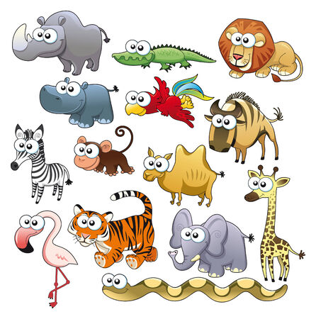 serpiente caricatura: Familia de animal de Savannah