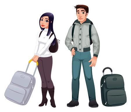 Travel Backpack: Personas en tr�nsito.