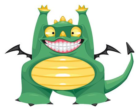 Funny baby dragon.  isolated cartoon character Vector