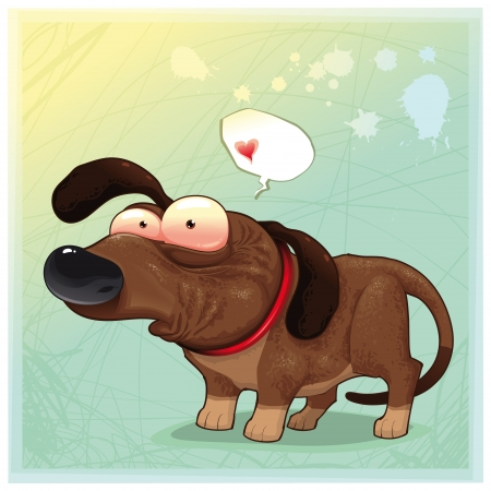 Funny dog with balloon. Stock Vector - 8627717