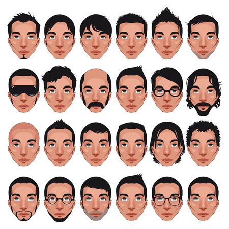 Avatar, mannen portretten.  Vector Illustratie