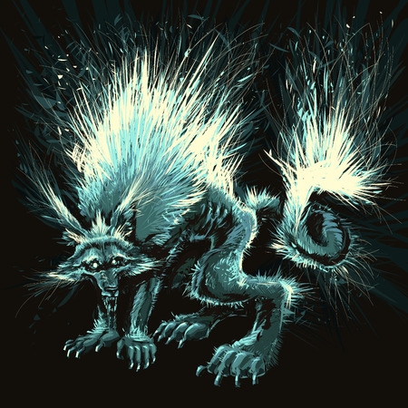 freaks: Werewolf.  illustration.