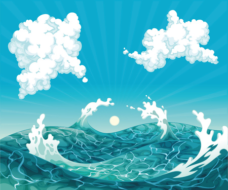 Waves. Vector illustration, isolated objects  Stock Vector - 9106747