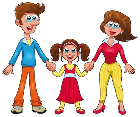 mammy: Human family. Cartoon and vector characters.