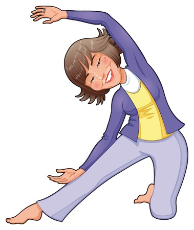 Yoga Position. Funny cartoon Stock Vector - 13535778