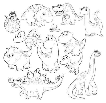 Dinosaurs Family. Vector