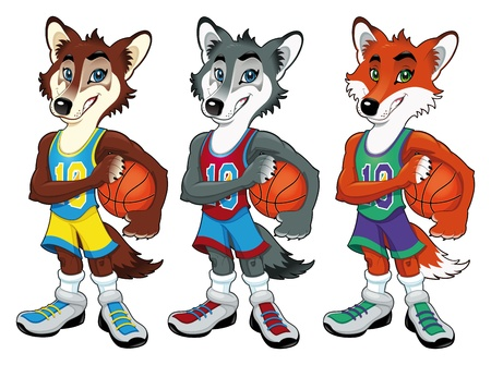 Basketball mascots. Vector