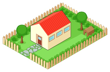 terraced: Isolated house  Vector illustration Illustration