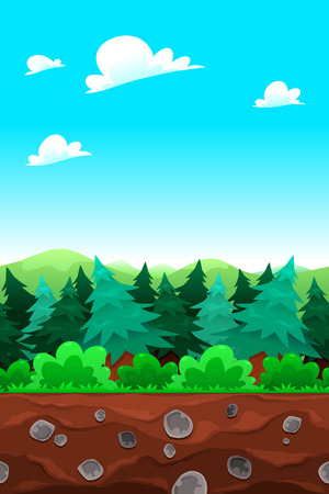 measures: Green wood. Vector illustration with measures: 1280x1920 pixels. The sides repeat seamlessly for a possible, continuous animation.