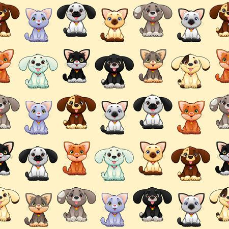 Grappige katten en honden met achtergrond. Stockfoto - 29948453