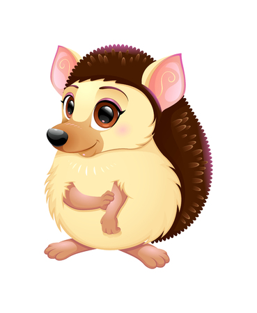 porcupine: Cute porcupine. Funny cartoon vector isolated character Illustration