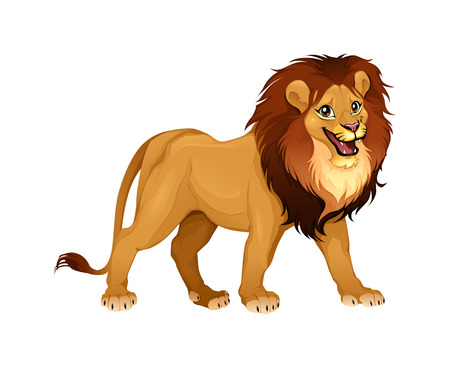 cartoon king: Lion king Cartoon Illustration