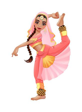 インド人のダンサー。  イラスト・ベクター素材