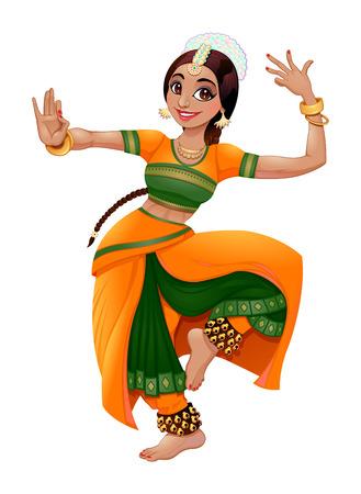 fille indienne: Danseuse indienne. Illustration