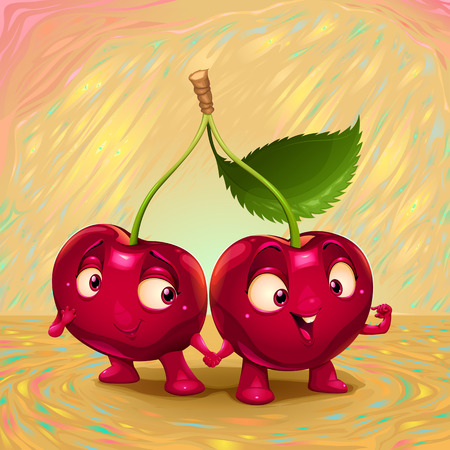 Hello my name is cherry. Vector cartoon illustration suitable for the kitchen 일러스트