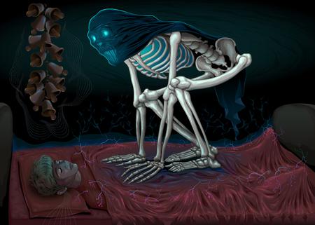 Sleep paralysis. Illustration