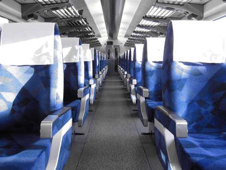 rij blauw trein zitplaatsen