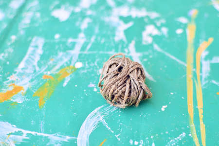 bundle of rope on dirty background