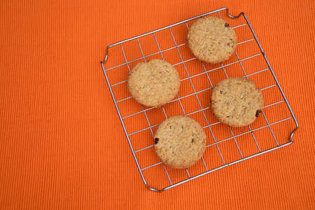 Raisins chip cookies Imagens