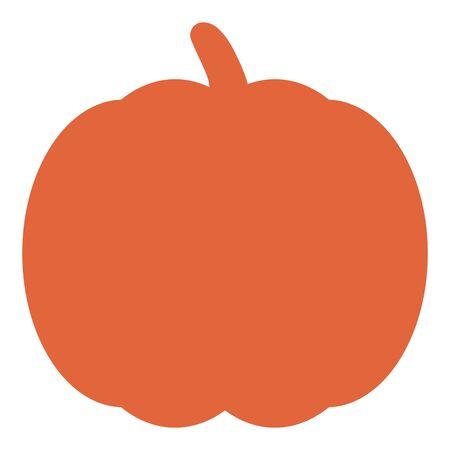 Orange pumpkin silhouette. Pumpkin icon vector illustration