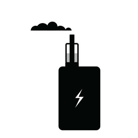 Vaporiser flat vector icon. Electronic Cigarette sign. Vector illustration