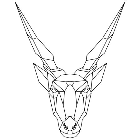 Abstract polygonal head of african antelope, eland. Geometric vector illustration. Stock Vector - 138358406