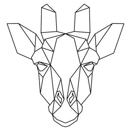 Abstract polygonal head of giraffe. Geometric vector illustration. Vector Illustration