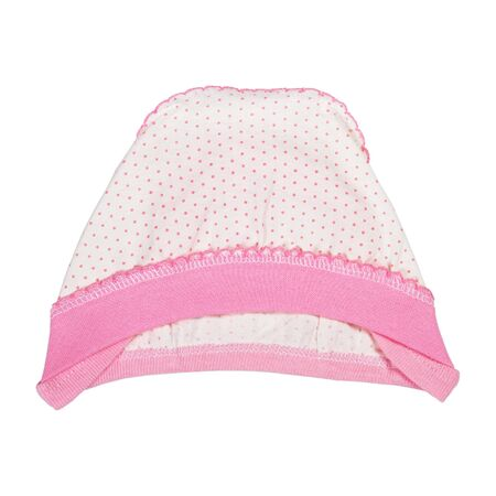Baby girl pink hat isolated on white background