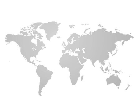 Gray similar world map blank for infographic isolated on white background. Vector illustration